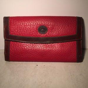 Dooney & Burke red and  brown wallet